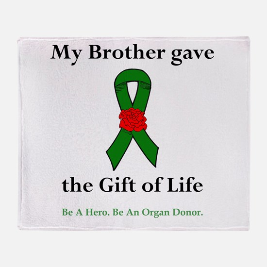 Brother Donor Throw Blanket