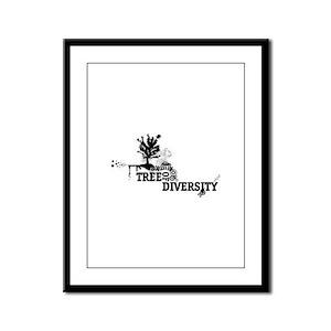 tree of diversity Framed Panel Print