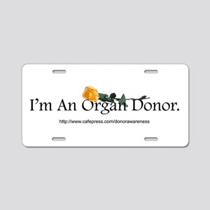 Organ Donor Rose Aluminum License Plate