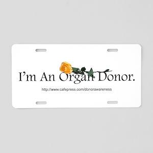 Organ Donor Rose Aluminum License Plate