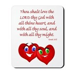 Hearts for God Mousepad