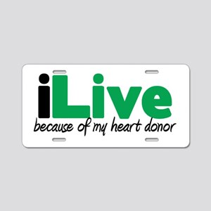 iLive Heart Aluminum License Plate
