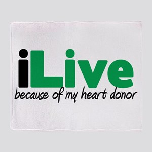 iLive Heart Throw Blanket
