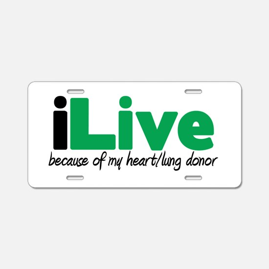 iLive Heart/Lung Aluminum License Plate