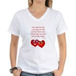 Hearts for God Women's V-Neck T-Shirt