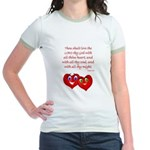 Hearts for God Jr. Ringer T-Shirt
