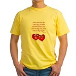 Hearts for God Yellow T-Shirt
