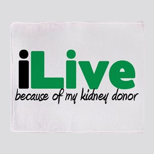 iLive Kidney Throw Blanket