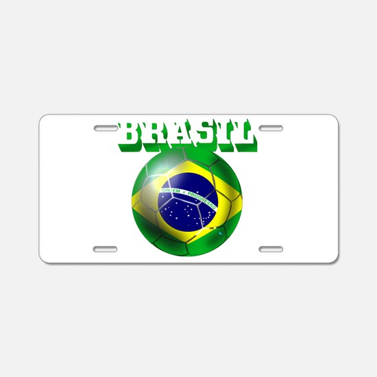 Brasil Football Aluminum License Plate