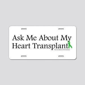 Ask Me Heart Aluminum License Plate