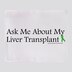 Ask Me Liver Throw Blanket