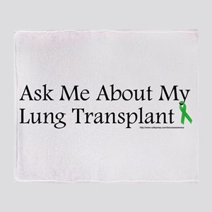 Ask Me Lung Throw Blanket