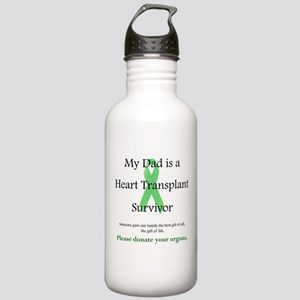 Dad Heart Transplant Stainless Water Bottle 1.0L
