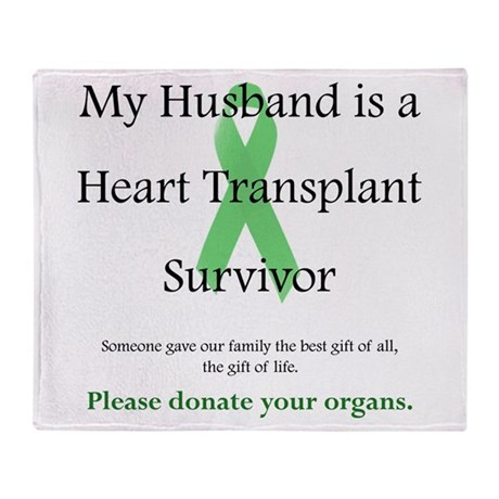 Husband Heart Transplant Throw Blanket