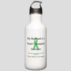 Husband Heart Transplant Stainless Water Bottle 1.