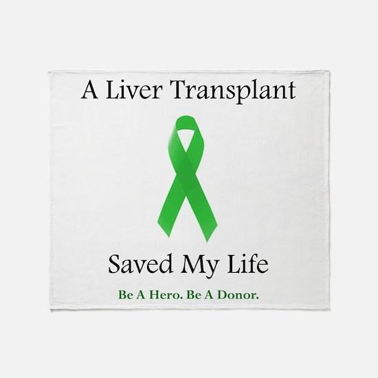 Liver Transplant Survivor Throw Blanket