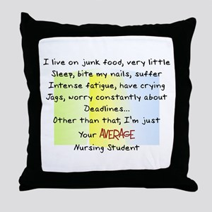Nursing Student IV 2011 Throw Pillow