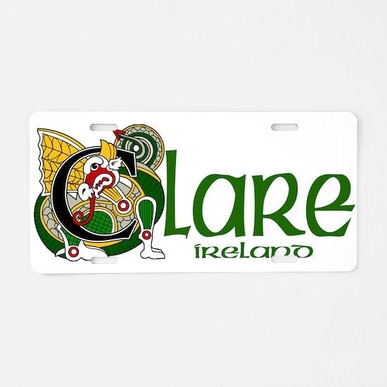 County Clare Aluminum License Plate