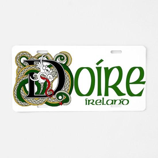 Derry Dragon (Gaelic) Aluminum License Plate
