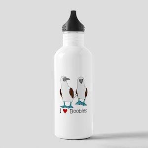 I Heart Boobies Stainless Water Bottle 1.0L
