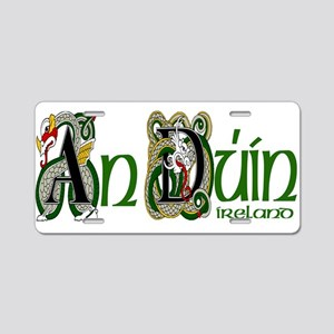 Down Dragon (Gaelic) Aluminum License Plate