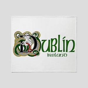 Dublin, Ireland Throw Blanket