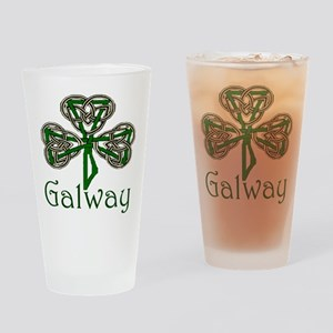 Galway Shamrock Pint Glass