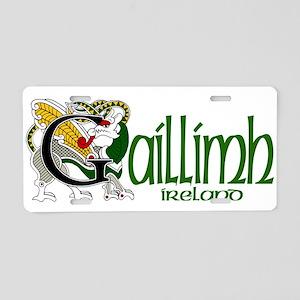 Galway Dragon (Gaelic) Aluminum License Plate