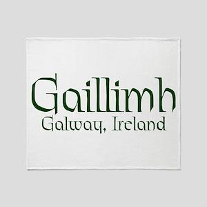 County Galway (Gaelic) Throw Blanket