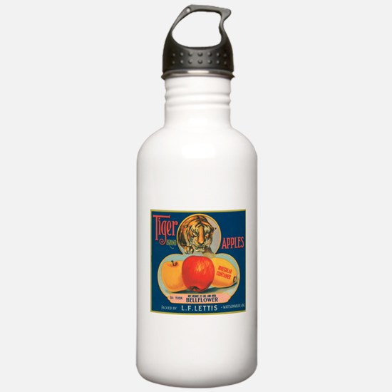 Tiger Apples Water Bottle