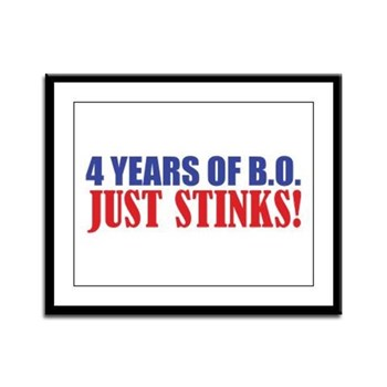 Obama Stinks Framed Panel Print