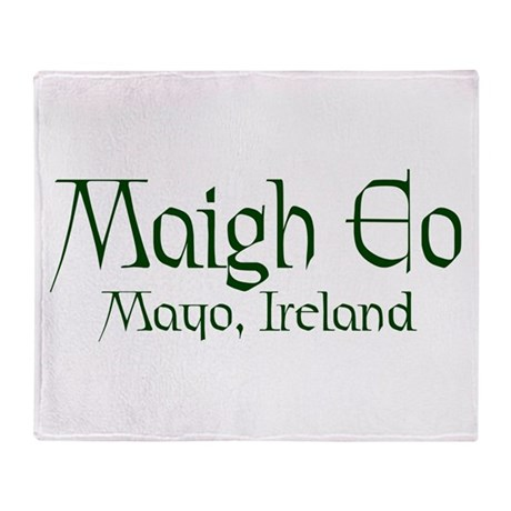 County Mayo (Gaelic) Throw Blanket