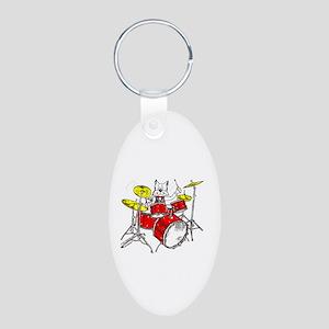 Catoons™ Aluminum Oval Keychain