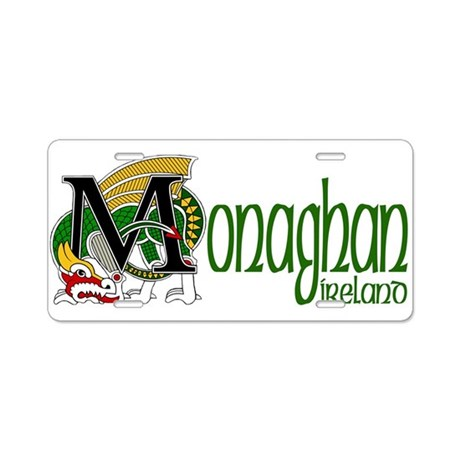 County Monaghan Aluminum License Plate