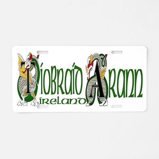 Tipperary Dragon (Gaelic) Aluminum License Plate