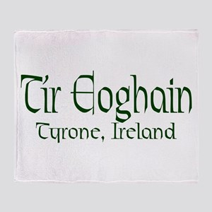 County Tyrone (Gaelic) Throw Blanket