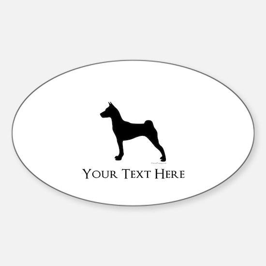 Basenji - Your Text! Sticker (Oval)