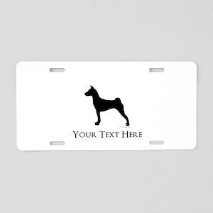 Basenji - Your Text! Aluminum License Plate