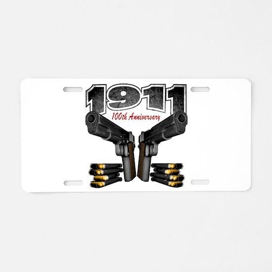 1911 100th Anniversary Aluminum License Plate