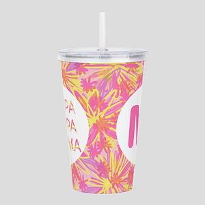 Kappa Gamma Pink Acrylic Double-Wall Tumbler