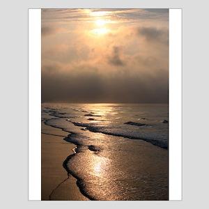Small Poster - Sunrise at Folly Beach, SC