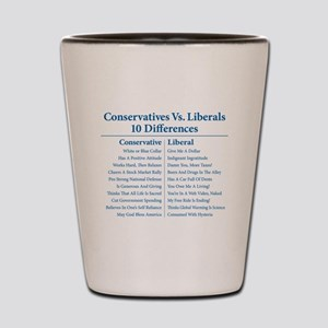 Conservatives Vs. Liberals 10 Differences Shot Gla