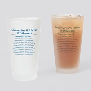 Conservatives Vs. Liberals 10 Differences Pint Gla