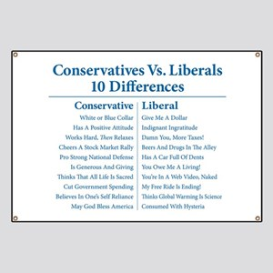 Conservatives Vs. Liberals 10 Differences Banner