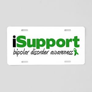 iSupport Bipolar Disorder Aluminum License Plate