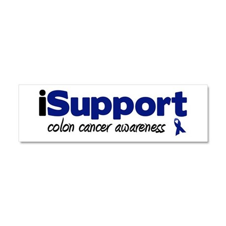 iSupport Colon Cancer Car Magnet 10 x 3