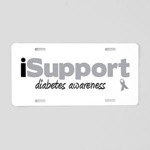 iSupport Diabetes Aluminum License Plate