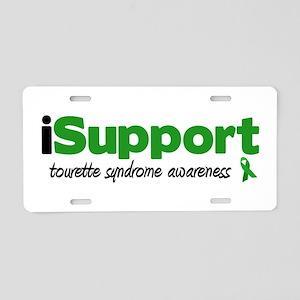 iSupport Tourette Aluminum License Plate