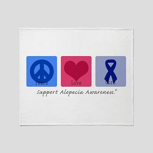 Peace Love Alopecia Throw Blanket