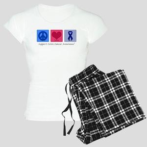 Peace Love Colon Cancer Women's Light Pajamas